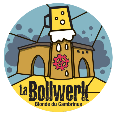 Gambrinus Mulhouse : la bière Bollwerk de Mulhouse, illustration de Hugues Baum