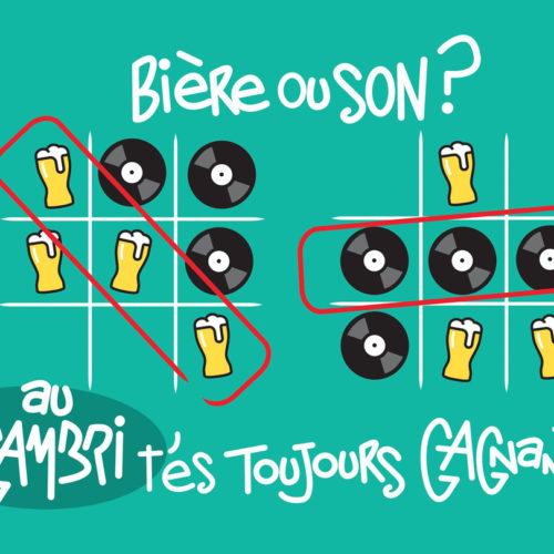 Bière ou son ? image pour le Gambrinus à Mulhouse par Hugues Baum