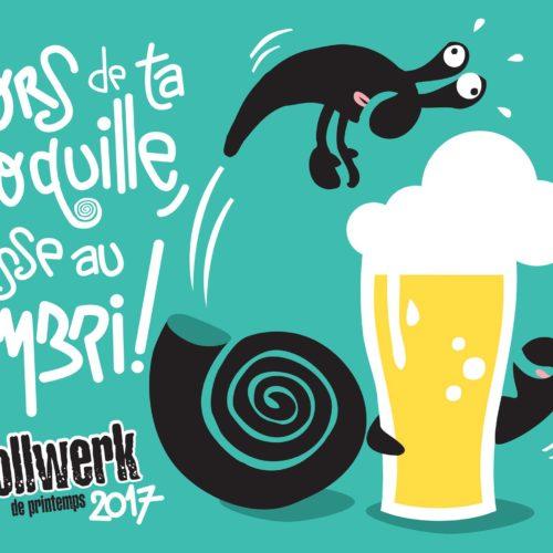 Sors de ta coquille, passe au Gambri ! image pour le Gambrinus à Mulhouse par Hugues Baum