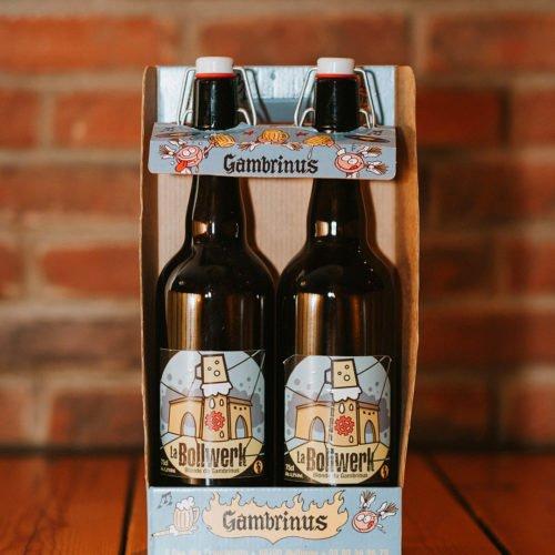 Photo du Gambrinus à Mulhouse : bar, brasserie à bière (la Bollwerk en bouteille)